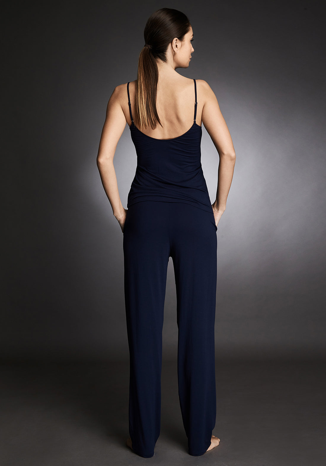 Isolde Long Pants in Navy Blue