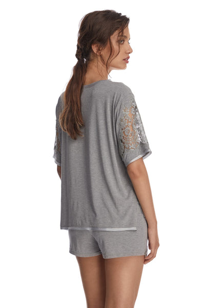 Heavenly Freshness Short Sleeve Top in Glacier Grey
