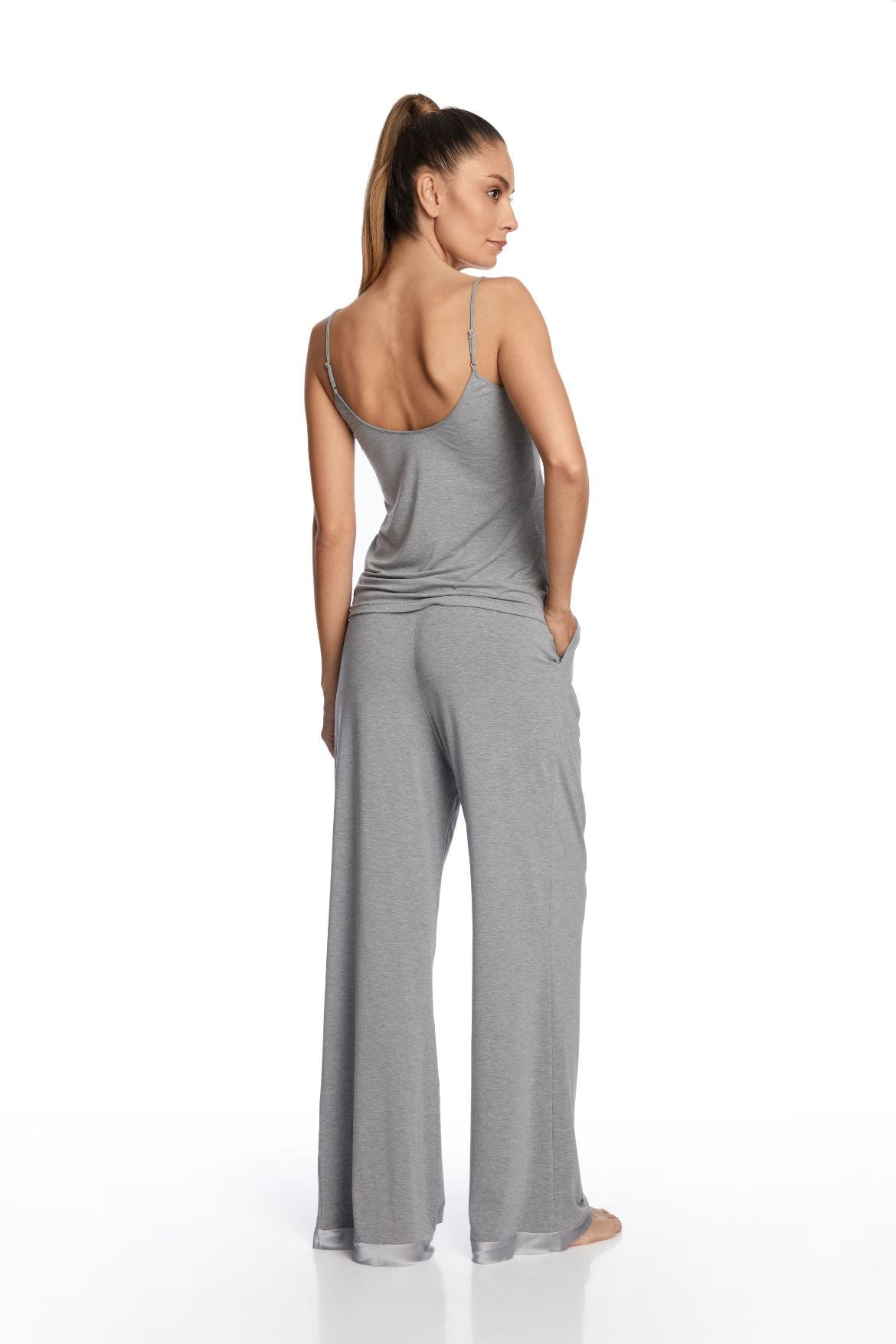 Heavenly Freshness Wide Pants in Glacier Grey - I.D. Sarrieri