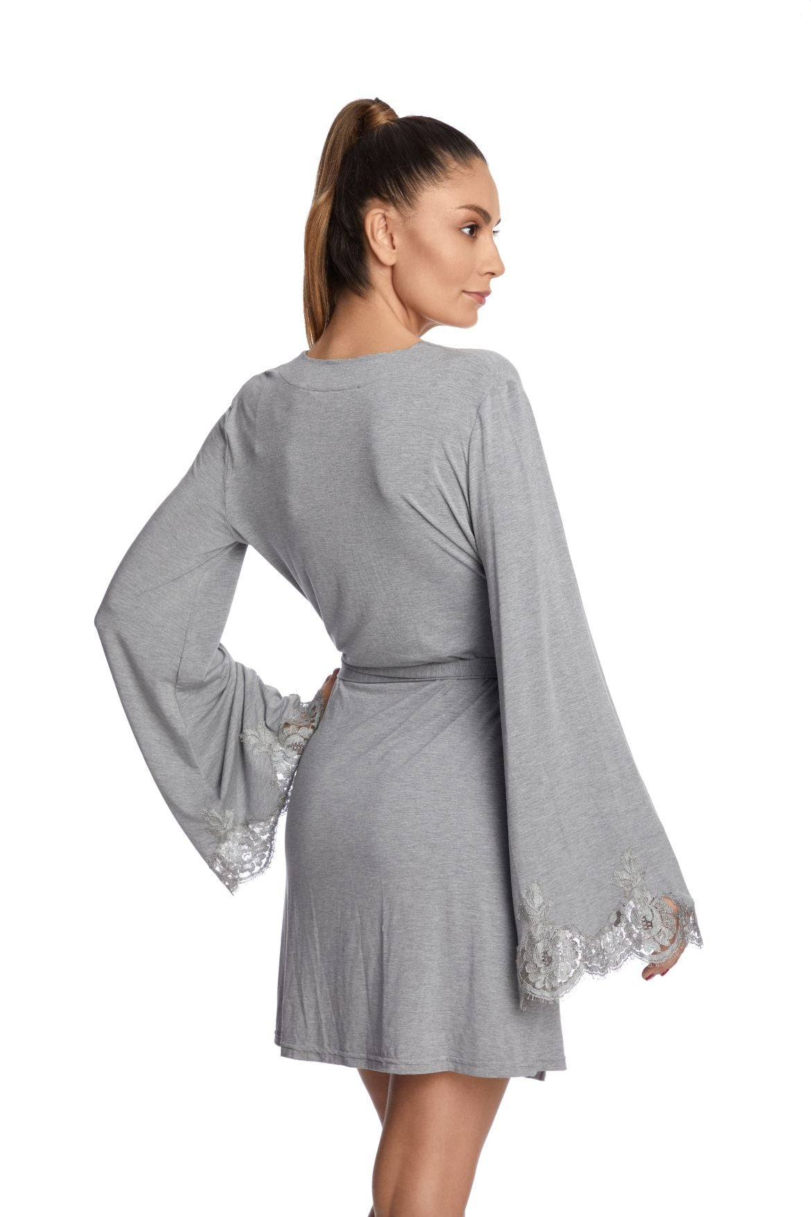 Heavenly Freshness Robe in Silver Grey - I.D. Sarrieri