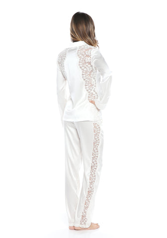 Macaroon Delights Pajama Top in Ivory