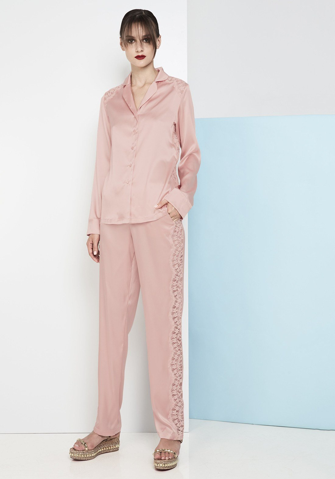 Macaroon Delights Long Pants in Blush