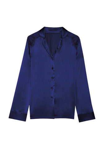 Macaroon Delights Bomber Jacket in Light Navy