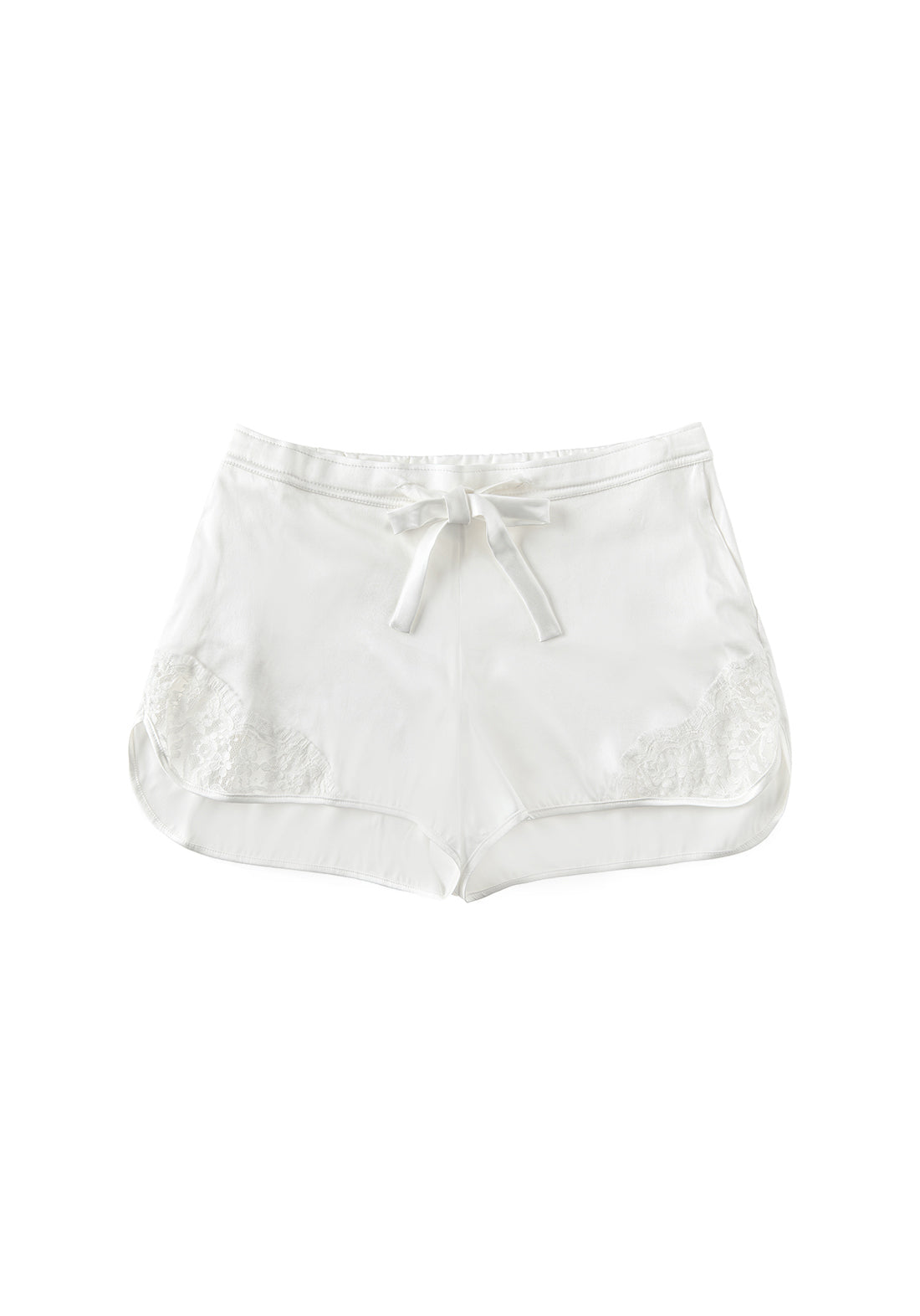 Macaroon Delights Silk Shorts in Ivory