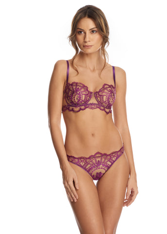 La Nymphe Balconette Bra in Shadow