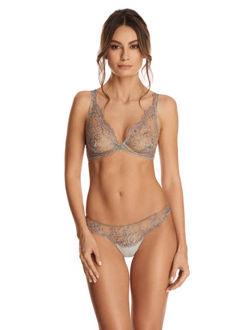 Endless Nights Brief With Embroidery Detail in Blush