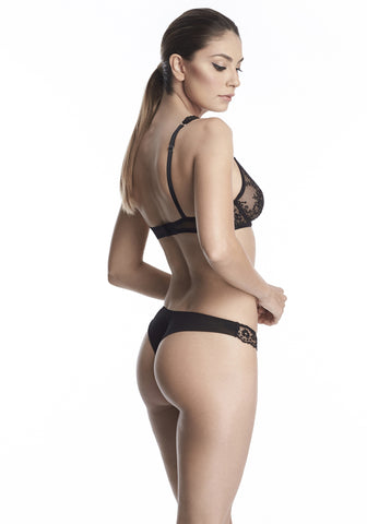 Hollywood Dream Thong in Black