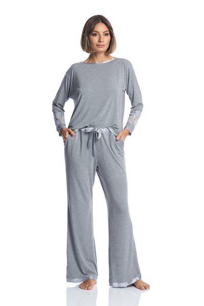 Kensington Mornings Pants in Grey - I.D. Sarrieri