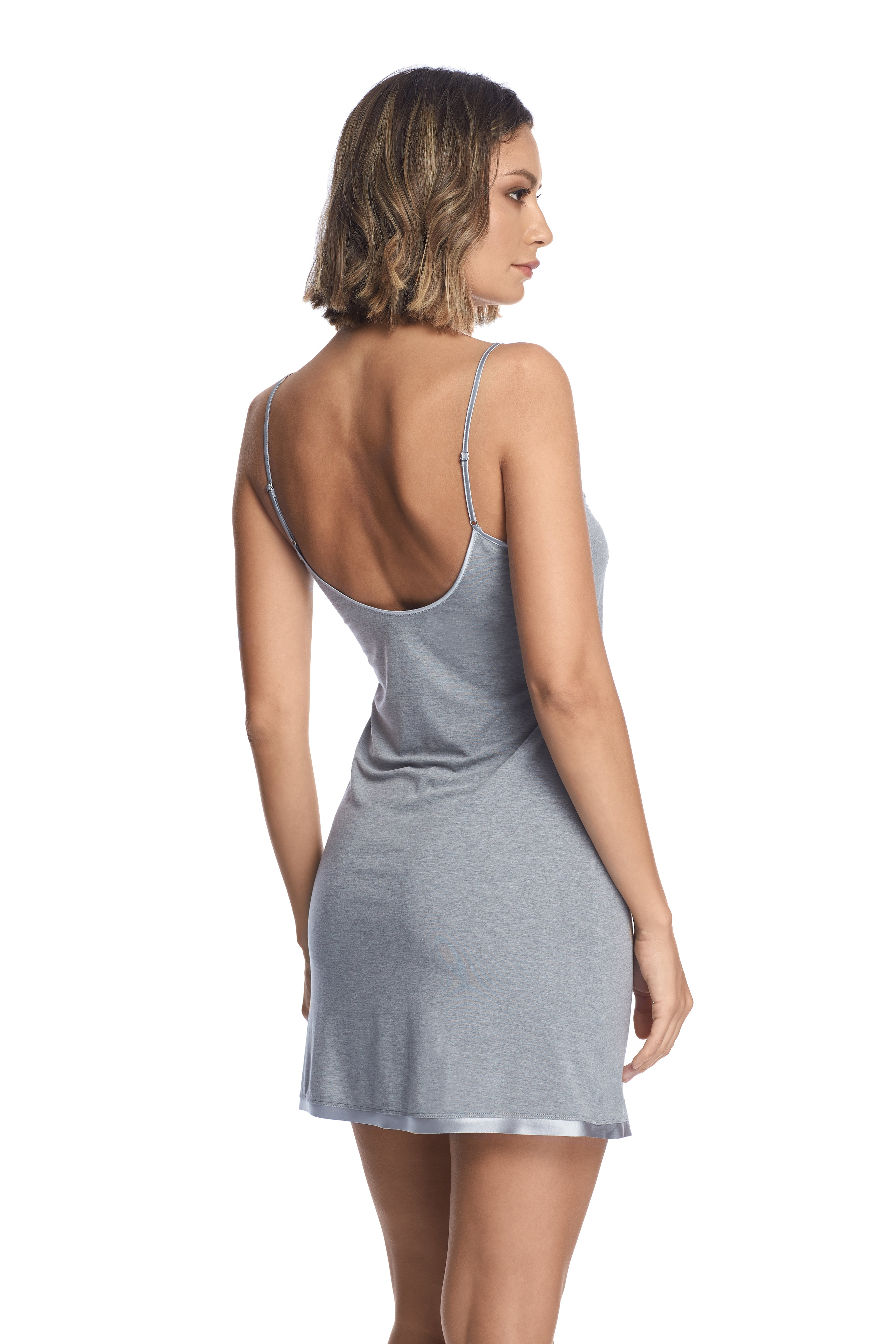 Kensington Mornings Chemise in Grey - I.D. Sarrieri