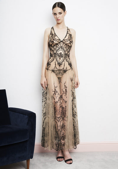 I.D. Sarrieri Lace string and long dress