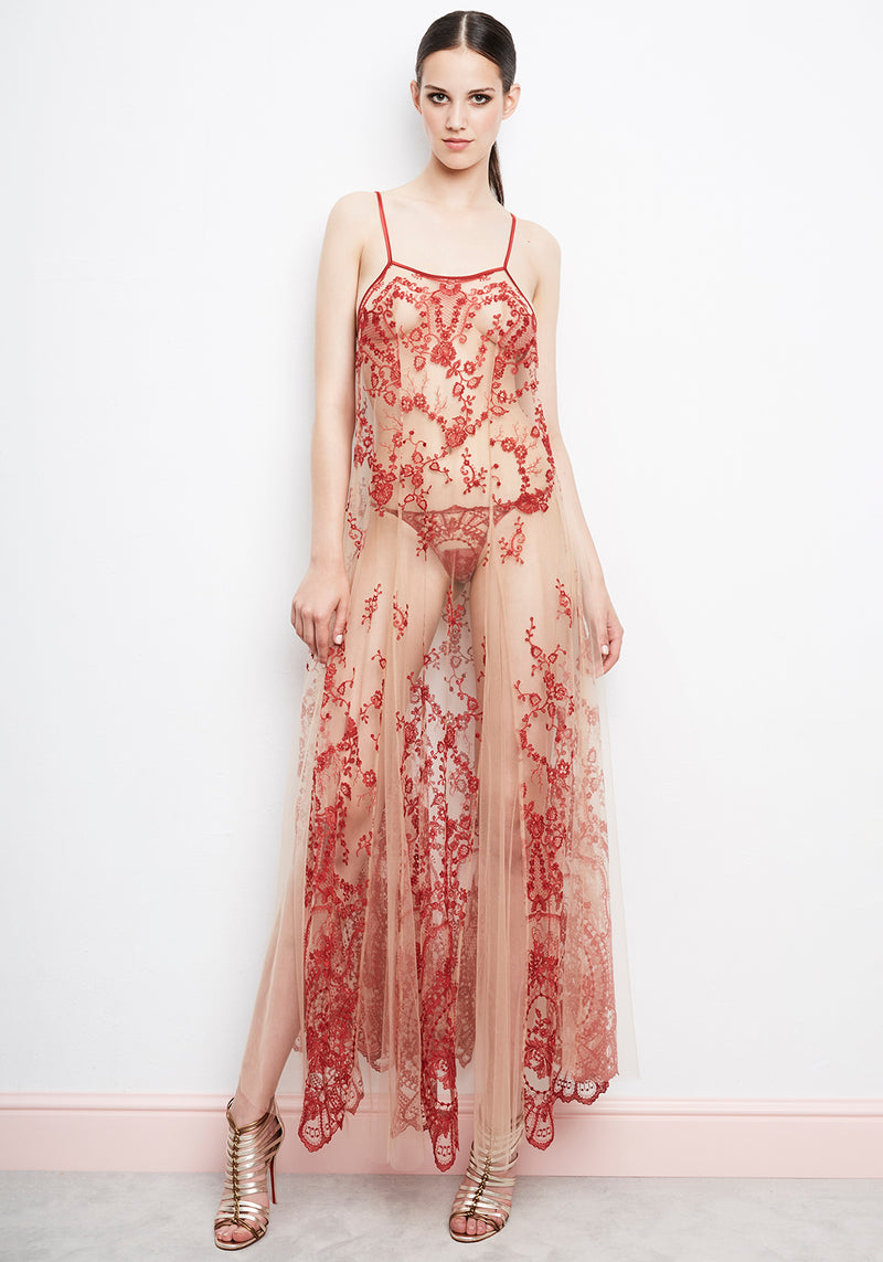 aa398424c5 La Naissance d Aphrodite Slip Dress in Ruby Red