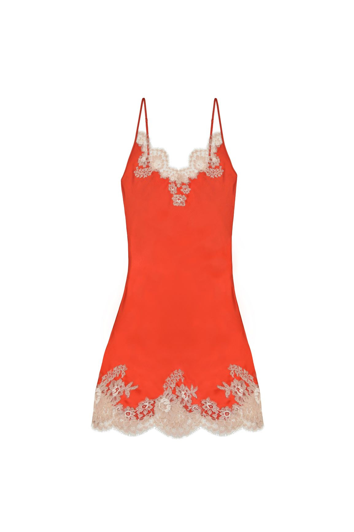 Manhattan Morning Mini Chemise in Orange/Nude - I.D. Sarrieri