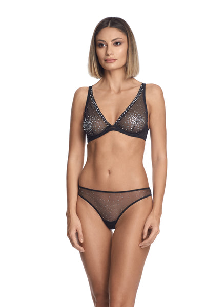 A Starry Night Triangle Bra in Black - I.D. Sarrieri