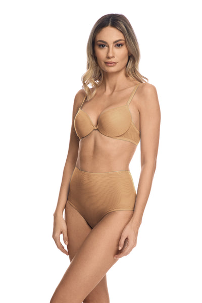 Clair de Lune High Waist Brief in Sand - I.D. Sarrieri