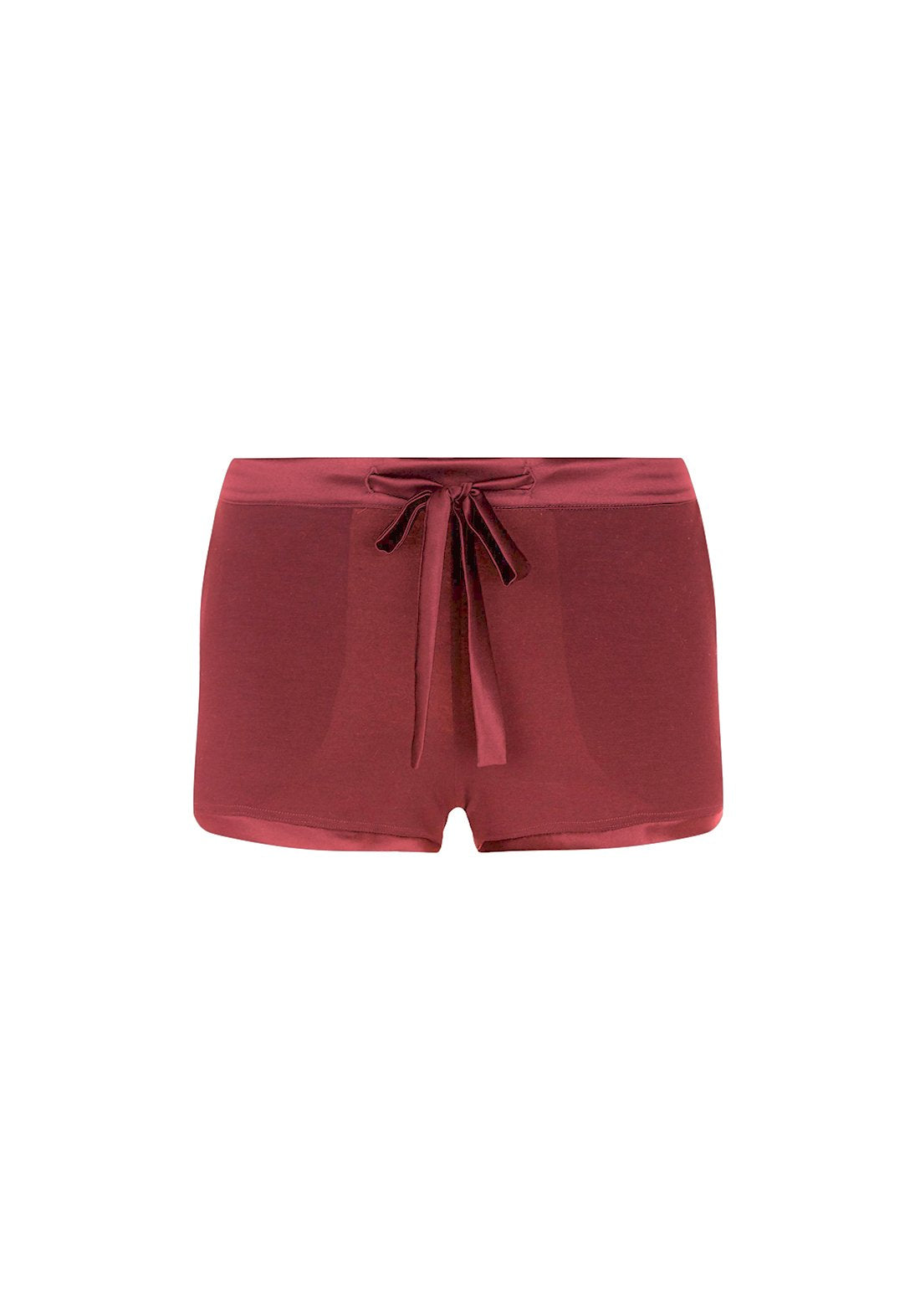 Café Crème Shorts in Dark Berry