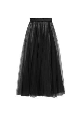 Pandora Long Skirt in Black