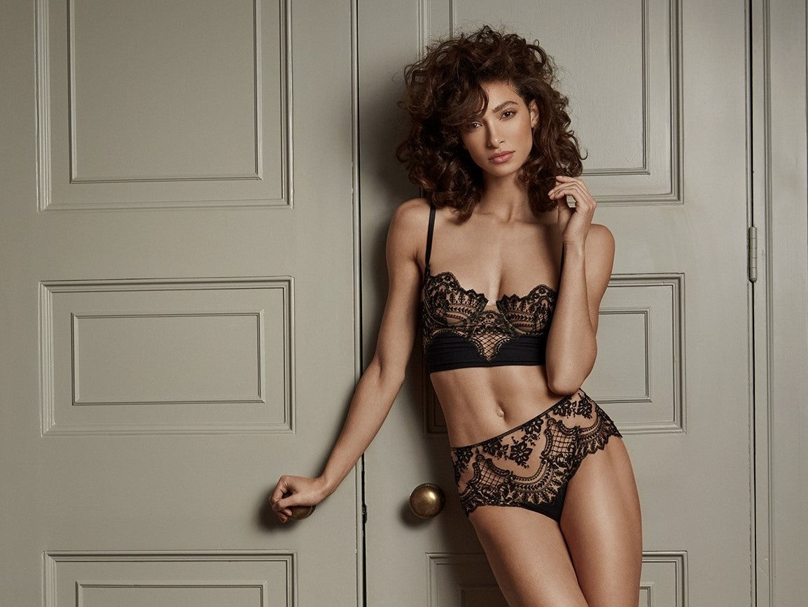 Questa Sera Underwired Demibustier in Black - I.D. Sarrieri