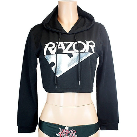 Razor - Evil Invaders - CROP HOODIE - Speed Clothes