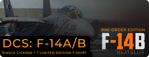 Pre-Order DCS: F-14A/B by Heatblur Simulations + 1 Limited edition T-Shirt