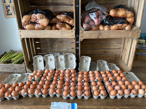 12 local free range eggs
