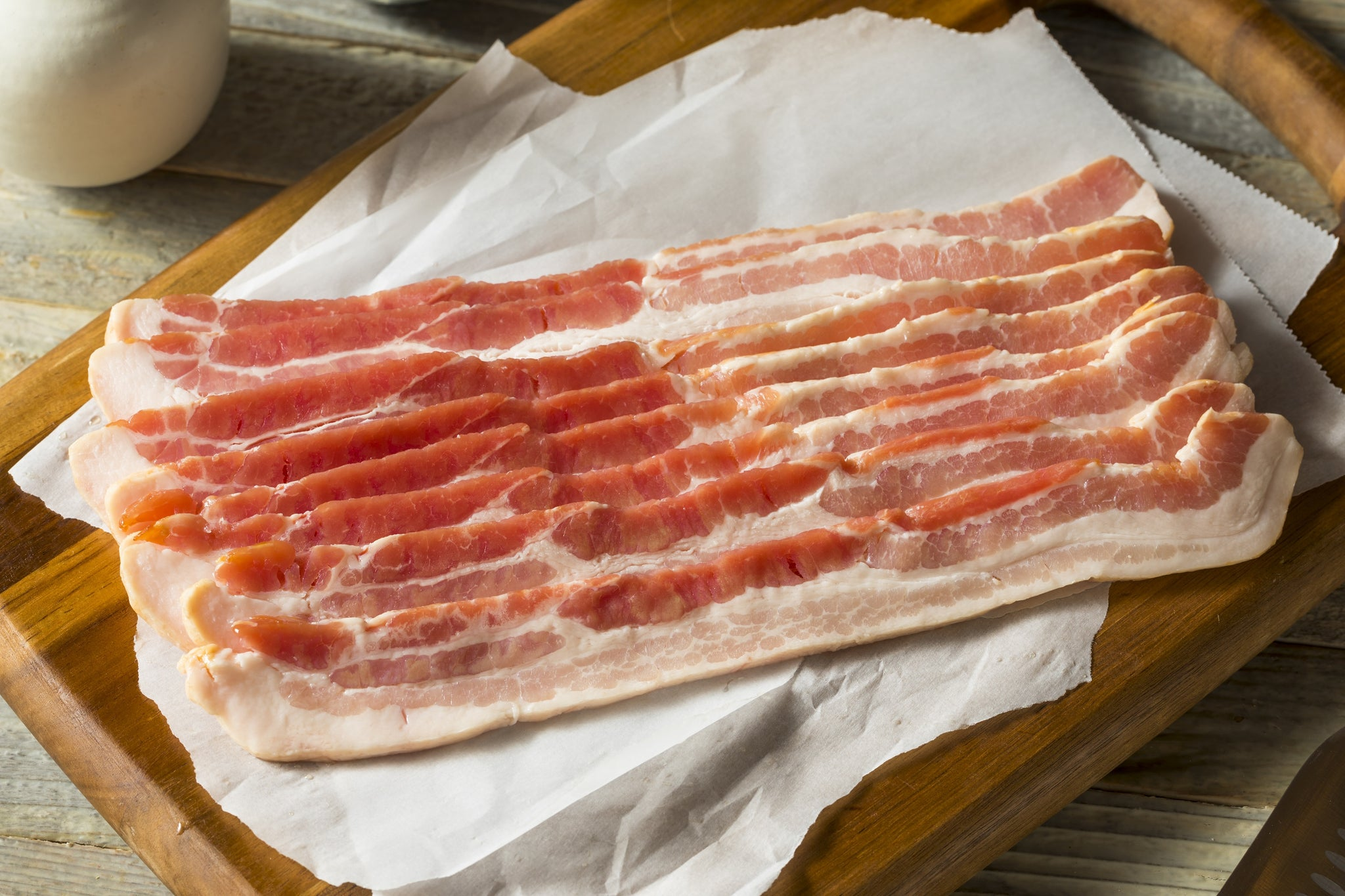 Bacon Streaky Plain Dry Cured (450 - 500g)