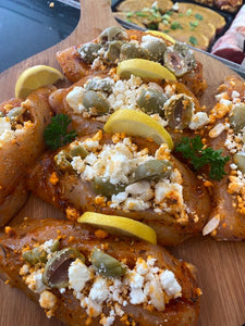 Greek Chicken stuffed with feta and olives
