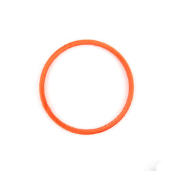 3 cercles soie  orange 7cm