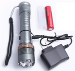 Self Defense Ultra Bright T6 Flashlight + Battery & Charger Kit