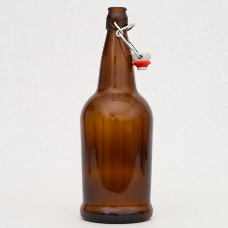 1L EZ Cap Bottles with Swing Tops - Brown (case of 12)