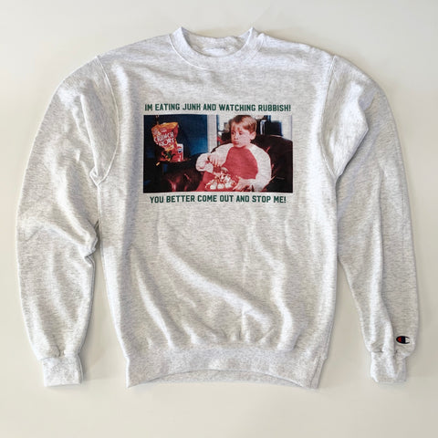 Watching Rubbish Crewneck