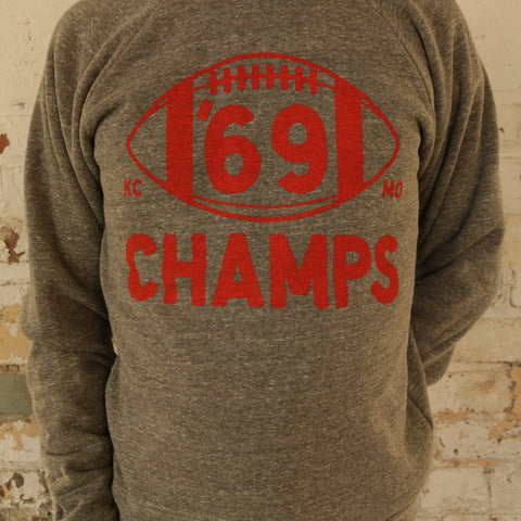 '69 Champs Crewneck (Grey)