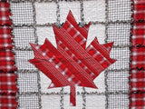 "Canada Flag Rag Quilt, Handmade Cotton Flannel Quilt, Throw Size, 58"" x 74"""