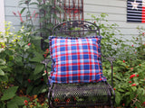 "Texas Star Pillow, Handmade Cotton Flannel Accent Pillow, Quilted and Appliqued Pillow, 22"" x 22"""