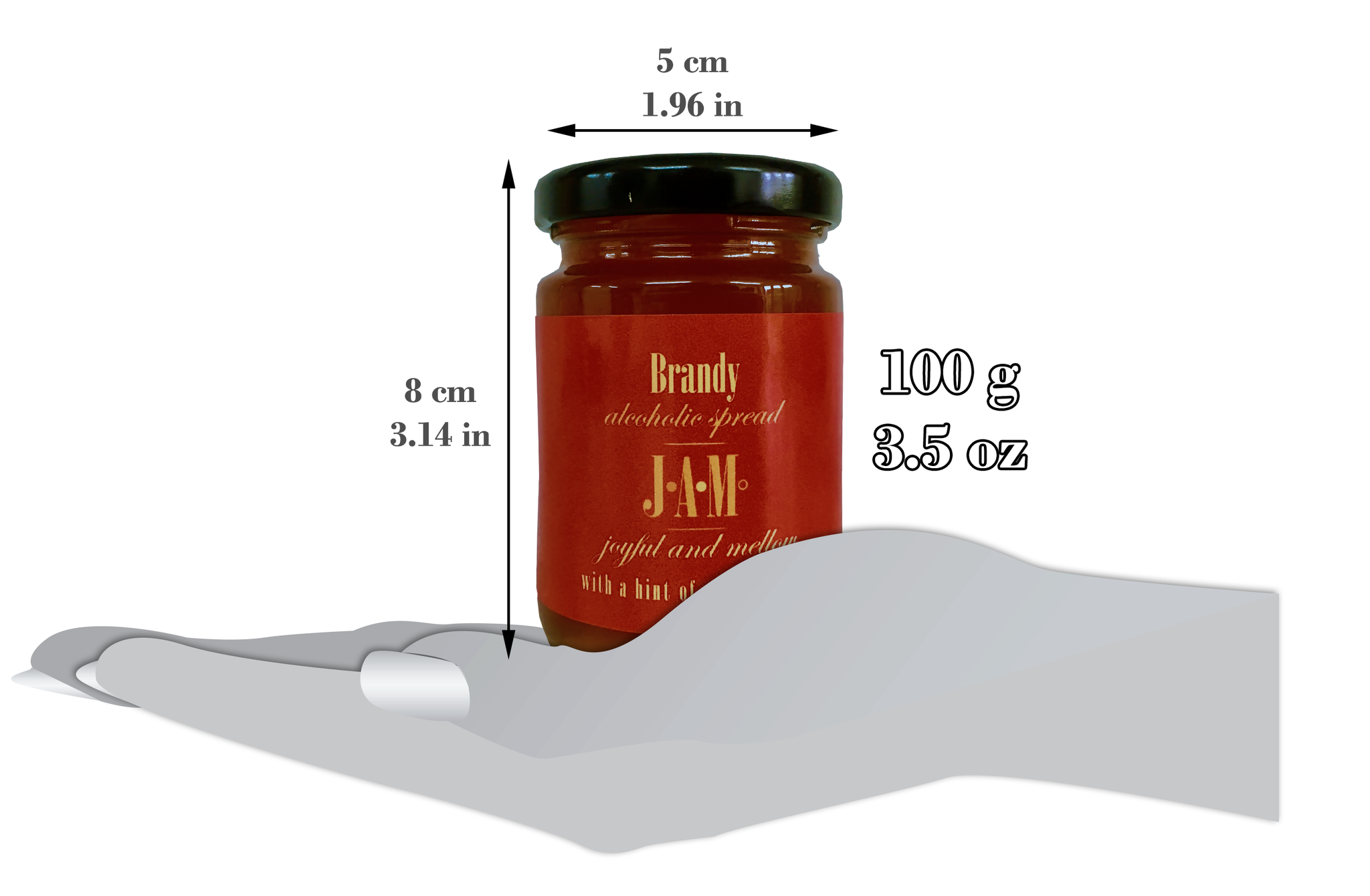 Brandy with a Hint of Passion Fruit Alcoholic Spread (100g)