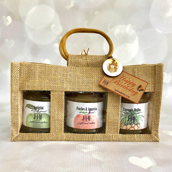 Gift Bag of 3 alcoholic jams