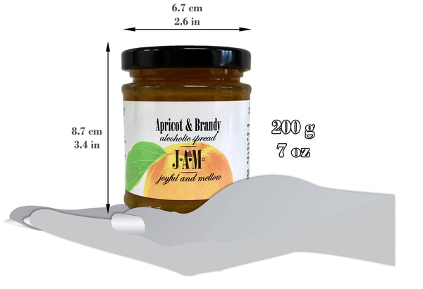 Apricot & Brandy Alcoholic Spread 200g