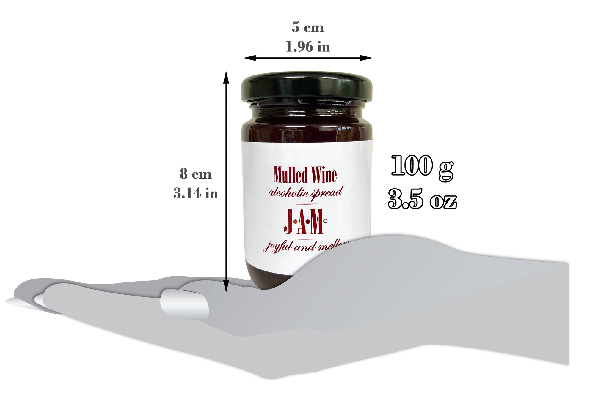 Mulled Wine Alcoholic Spread 100g - 6% ABV
