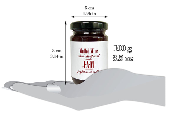 Mulled Wine Alcoholic Spread 100g - 61% Merlot Wine - 6% ABV