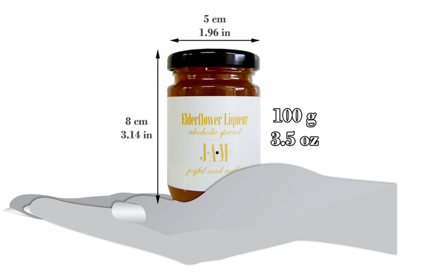 Elderflower Liqueur Alcoholic Spread (100g) - 13.80% Liqueur - 5.5% ABV