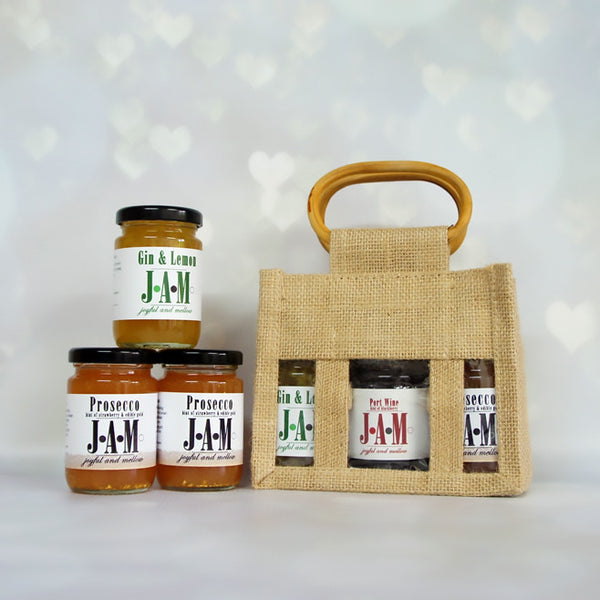 Prosecco jam bag of 3 alcoholic jams