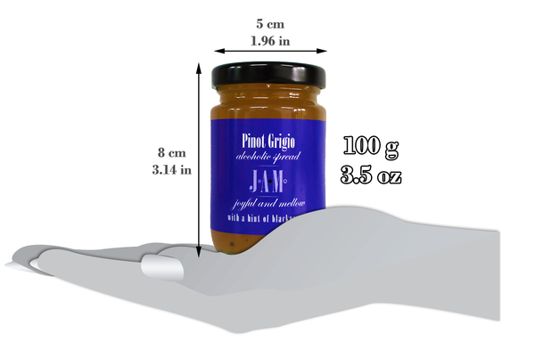 Pinot Grigio alcoholic spread with a hint of black pepper 100g.