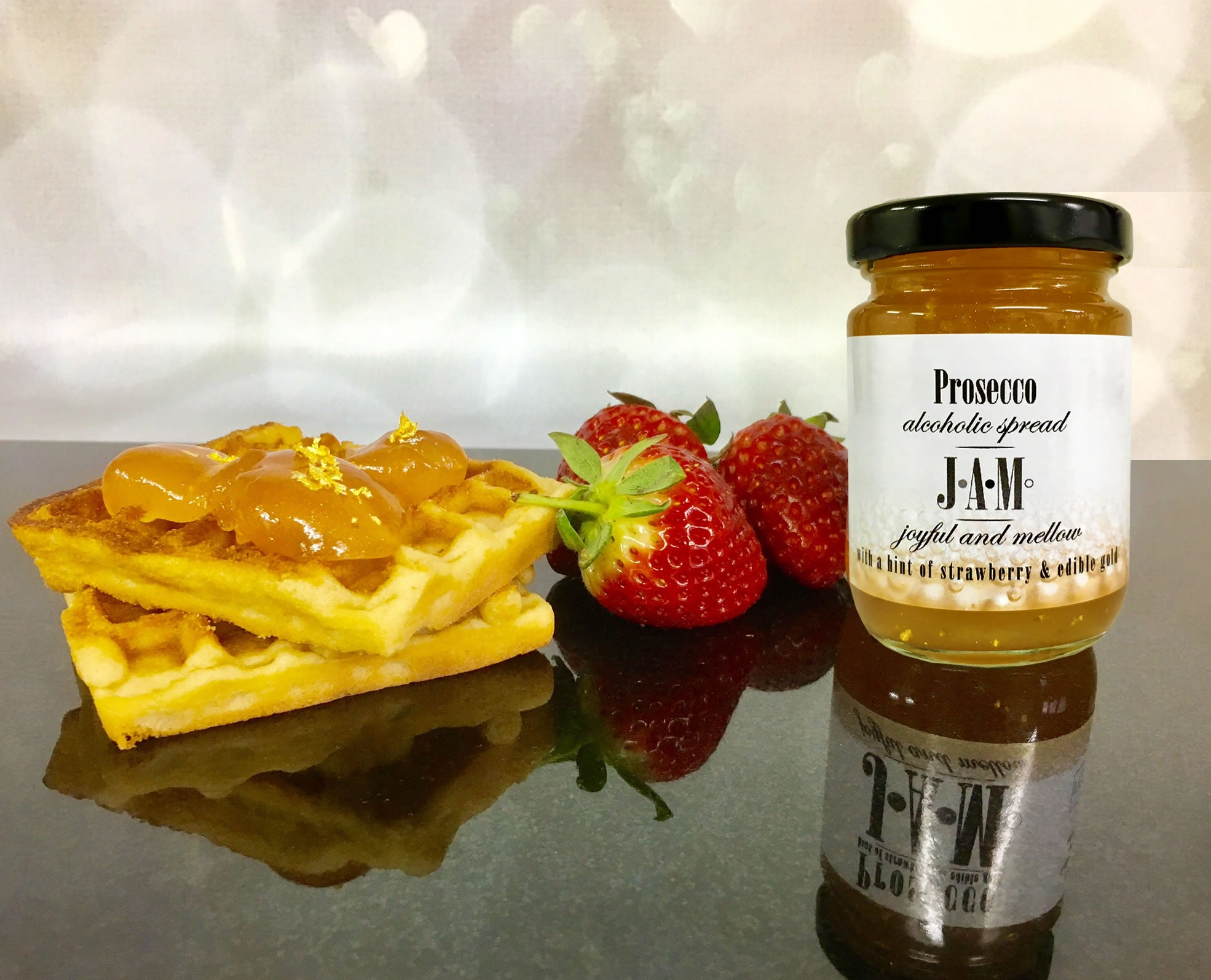 Prosecco Jam with waffles