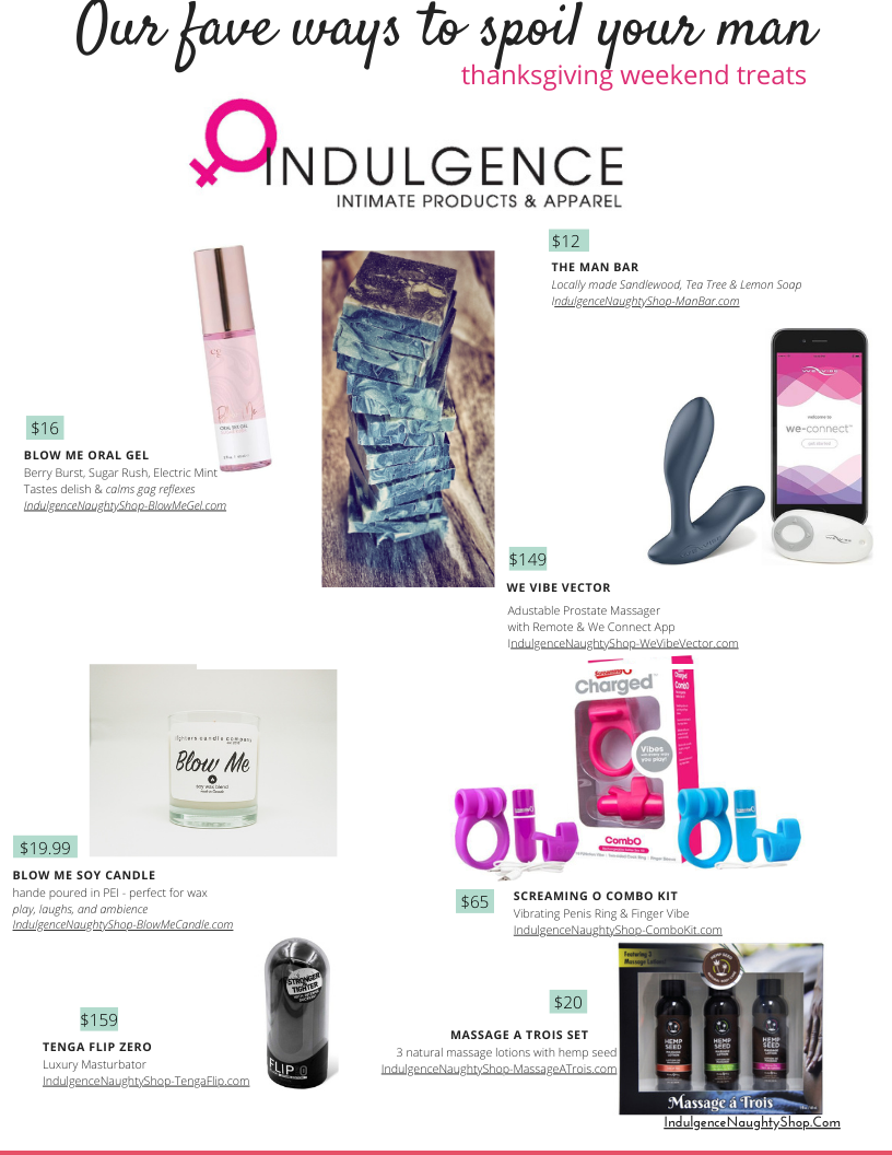 Indulgence Spoil Your Man Gift Guide