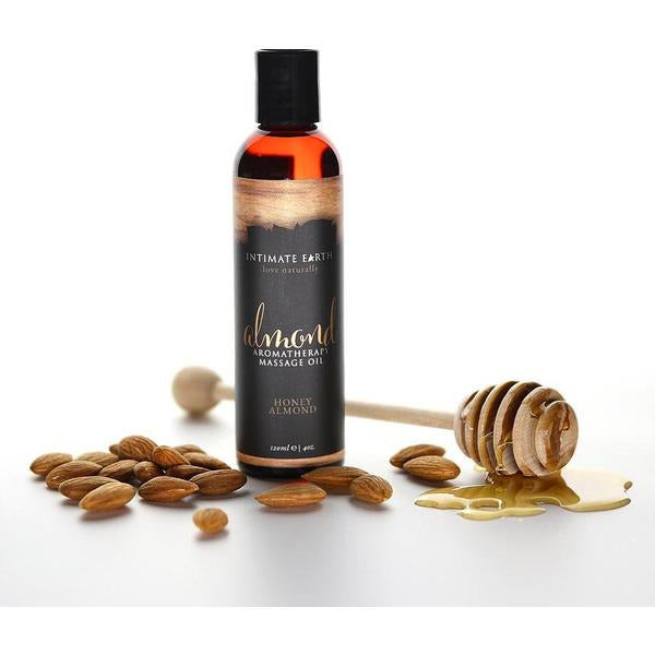 HONEY ALMOND | AROMATHERAPY MASSAGE OIL by INTIMATE EARTH