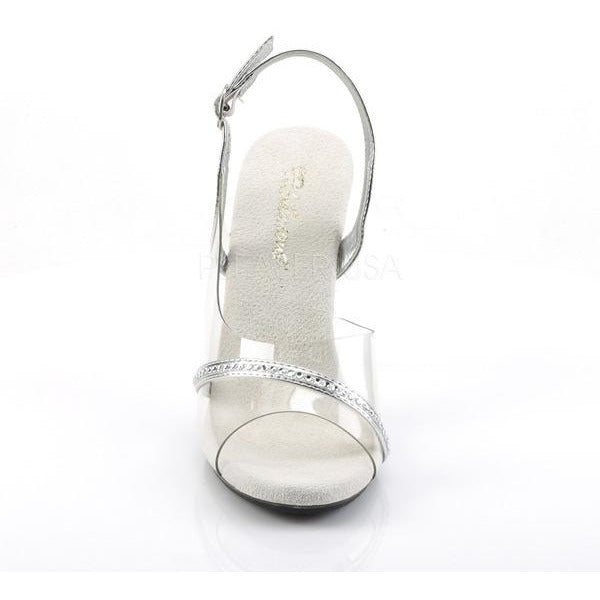 Pleaser Fabulicious Clear Slingback Sandal Front