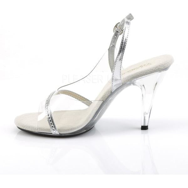Pleaser Fabulicious Clear Slingback Sandal Ankle Strap