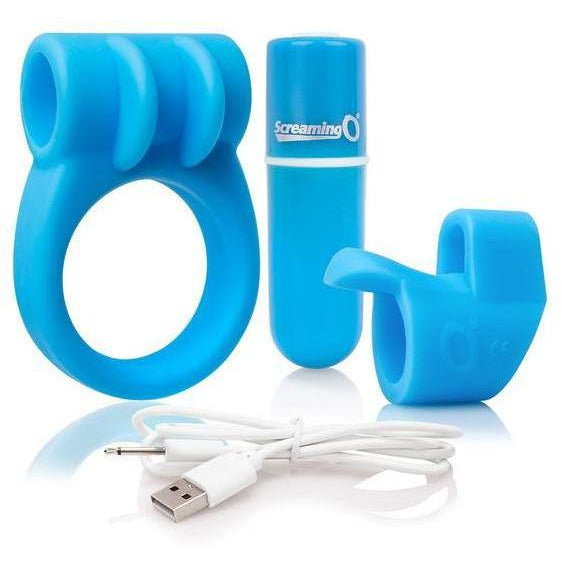 Combo Kit Vibrating Finger Sleeve & C Ring - www.indulgencenaughtyshop.com