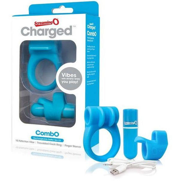 Combo Kit Vibrating Finger Sleeve & C Ring
