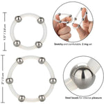 Steel Beaded Silicone Ring Set by California Exotics