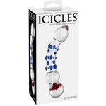 ICICLES NO. 18 Double Ended Glass Dildo - www.indulgencenaughtyshop.com